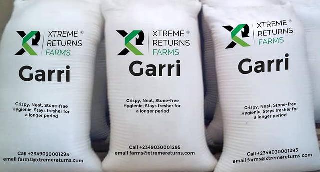 Garri Bag Packaging at Xtreme Returns Farms 2.jpg